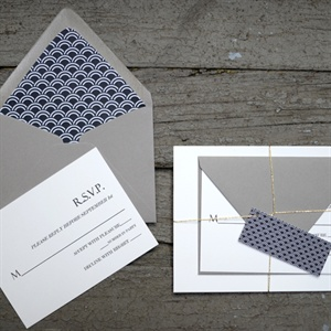 Navy and Gray Invitation Suite