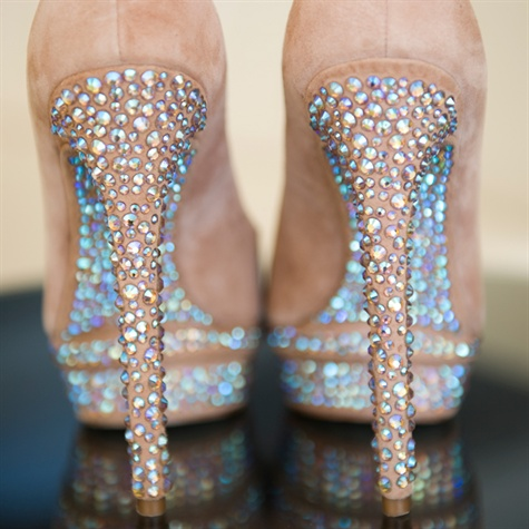 Rhinestone Studded Bridal Shoes