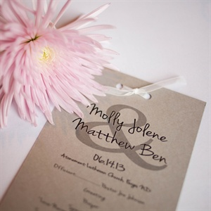 Simple Ceremony Programs