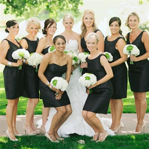 Classic Black Bridesmaid Dresses