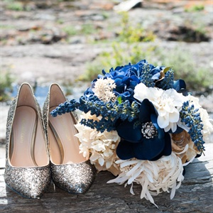 Navy Bridal Bouquet