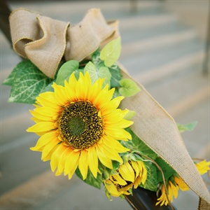 Sunflower Ceremony Decor
