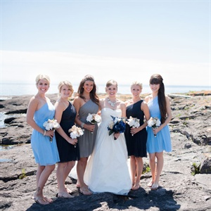 Mixed J.Crew Bridesmaid Dresses
