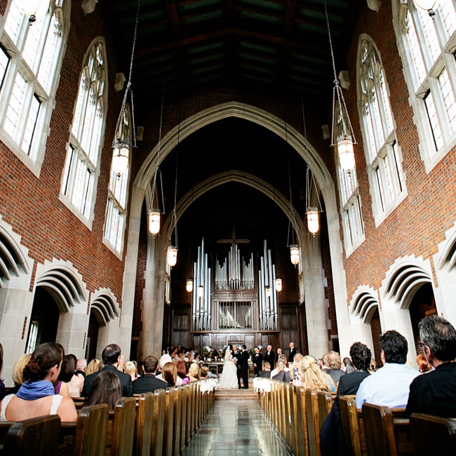 Ronda and Jeff chose the historic Wightman Chapel at Scarritt Bennett as the site for their ceremony, where the dramatic gothic architecture lended an air of elegance and romance to the occasion.