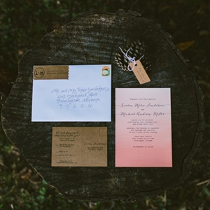 Pink Ombre Invitation Suite