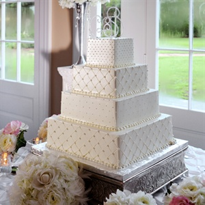 Traditional Square Dotted Cake