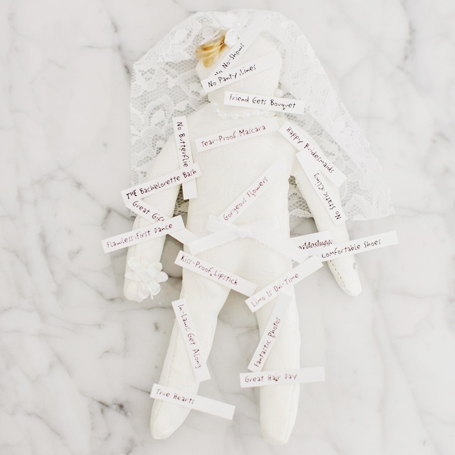 "New Orleans culture and history is rich in the practice of Voodoo, and this positive bridal voodoo doll makes good vibes ""stick"" on your wedding day."