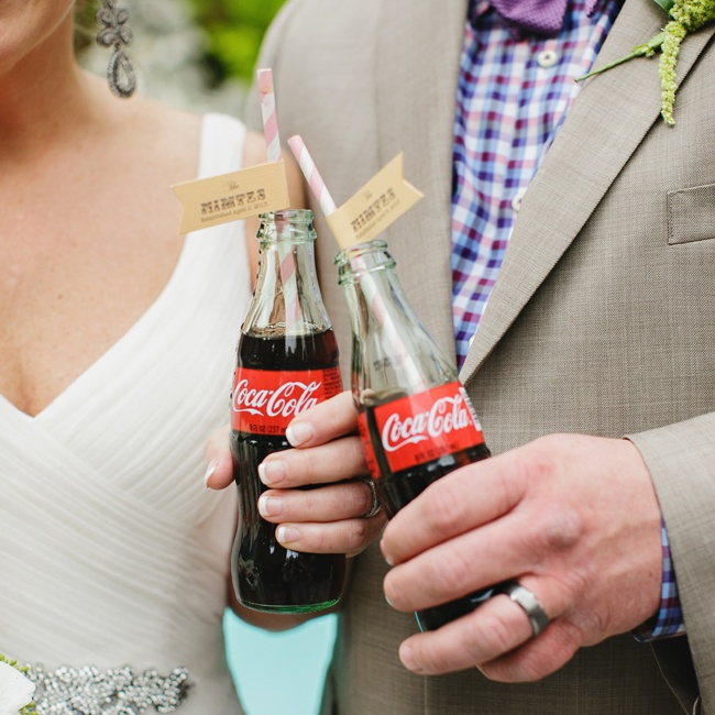 Vintage coke bottles played a major role during the reception and cocktail hour.