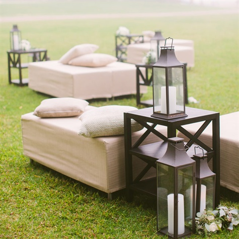 Rustic Chic Outdoor Lounge Area