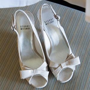 Ivory Stuart Weitzman Bridal Shoes