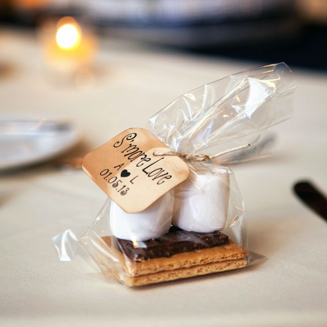 DIY s'more kits left guests with a sweet treat to take home after the reception.