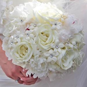 Simple White Bridal Bouquet