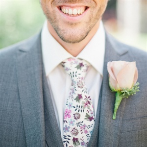 Liberty London Tie and Simple Boutonniere