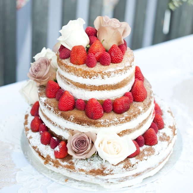 Hilary and Edward's wedding cake from Top of the Hill Bakery was a spin off on a classic summer time dessert: strawberry shortcake.
