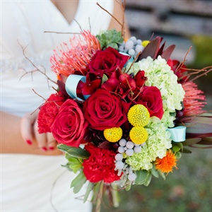 Bright Rustic Bridal Bouquet