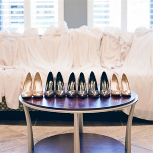 Black and Gold Bridesmaid Shoes