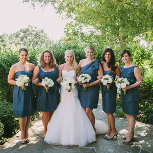 Neutral Blue Bridesmaids
