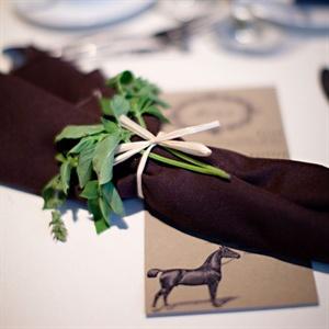 Horse Motif Menu Cards