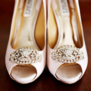 Embellished Blush Bridal Heels