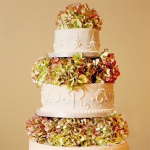 Wedding Cake with Fresh Flowers