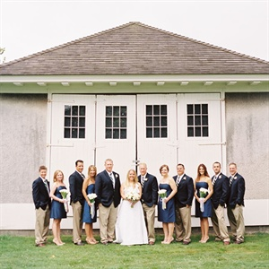 Preppy Wedding Party Style