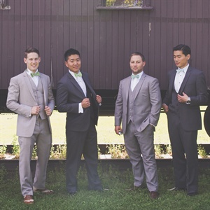 Mismatched Groomsmen Attire