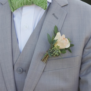 Pastel Rose and Eucalyptus Boutonniere