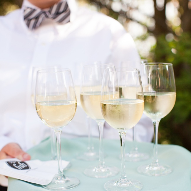 Guests enjoyed a classic, elegant cocktail hour between the ceremony and the reception.