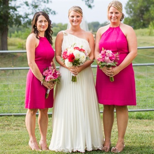 Hot Pink Bridesmaid Looks