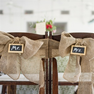 Mr. and Mrs. Burlap Chairs