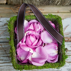 Moss-Lined Flower Girl Basket