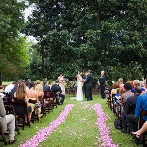 Petal-Lined Ceremony Aisle