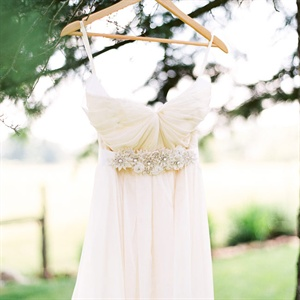 Strapless Gown with Beaded Embellishments