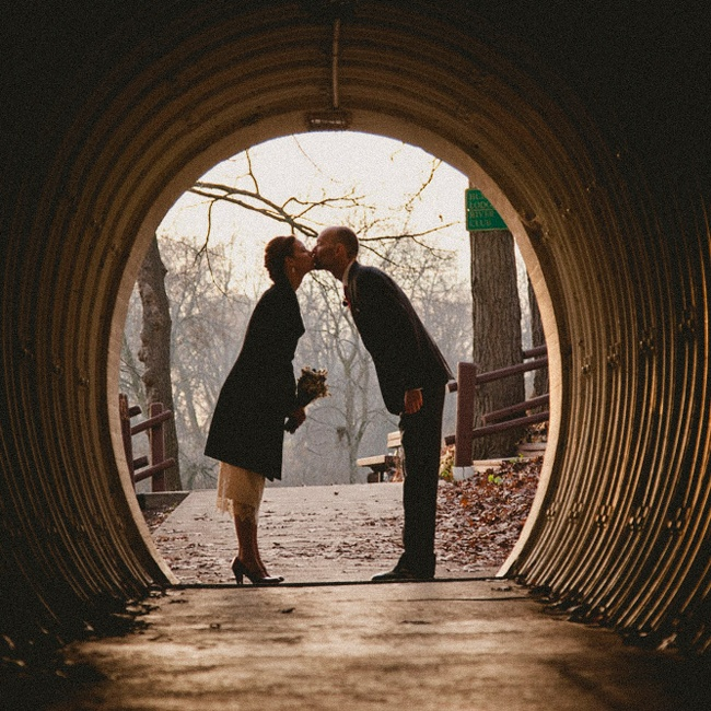 The couple took sentimental, vintage-inspired photos.