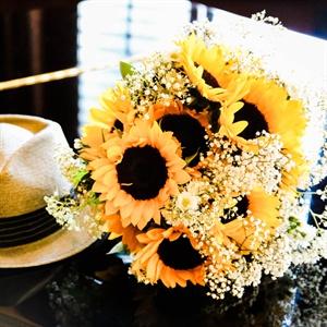 Bright Sunflower Bridal Bouquet
