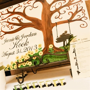 Painted Canvas Guestbook Alternative