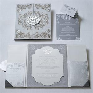 Modern Rococo Tri-Fold Invitations