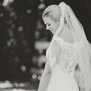 Lace-Embroidered Chapel-Length Veil