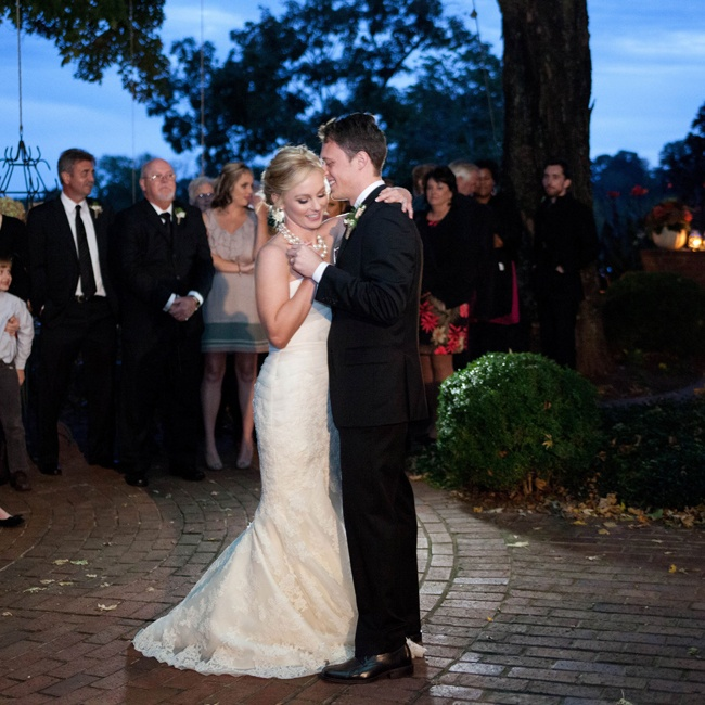 The couple shared their first dance under the stars at a private residence in Gallatin, TN.