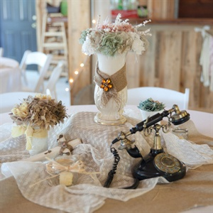 Antique Reception Decor