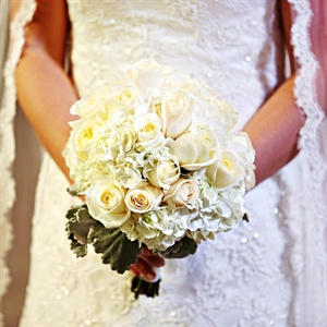Simple Ivory Bridal Bouquet