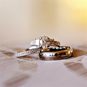 Eternity Engagement Ring and Matching Band