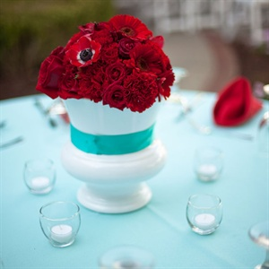 Red Anemone Centerpieces