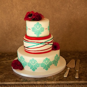 Modern Colorful Wedding Cake