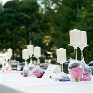Wine Glass Centerpieces
