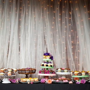 Colorful Cupcake Display