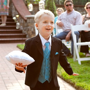Bright Blue Ring Bearer