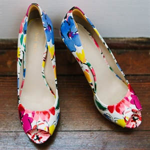 Bright Floral Bridal Shoes