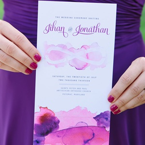 Custom Purple Watercolor Invitations