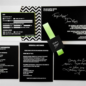 Modern Black and White Wedding Invitations